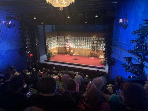 Hayes Theater, secção: Mezzanine R, fila: E, lugar: 2