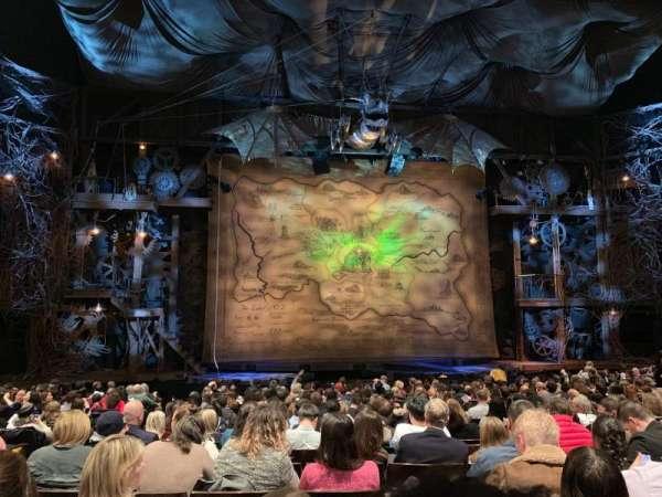 Gershwin Theatre, secção: Orchestra C, fila: O, lugar: 103