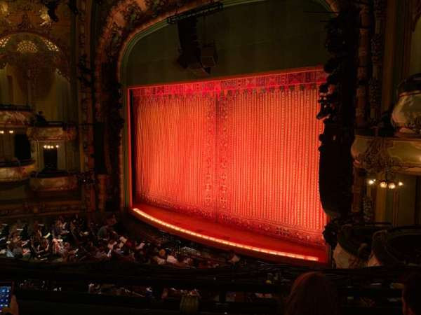 New Amsterdam Theatre, secção: Mezzanine R, fila: CC, lugar: 24