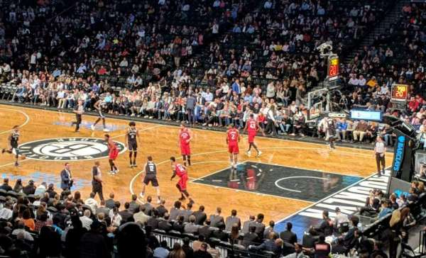Barclays Center, secção: 105, fila: 5, lugar: 2