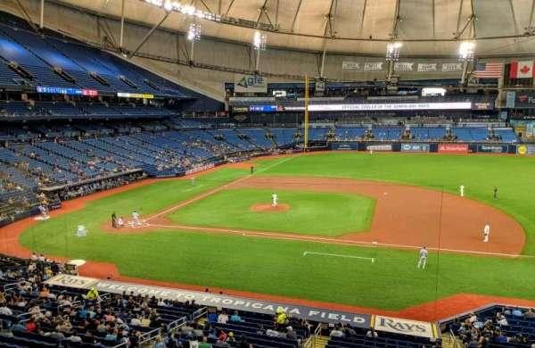 Tropicana Field, secção: 212, fila: 1, lugar: 16