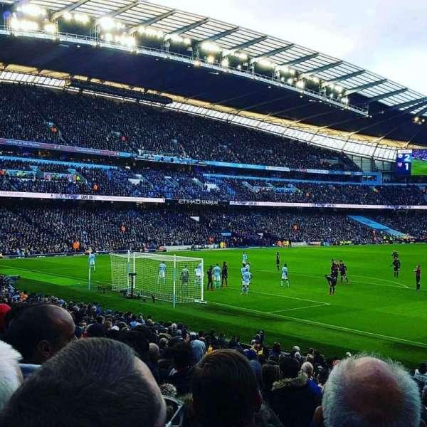 Etihad Stadium (Manchester), secção: L1, fila: U, lugar: 342