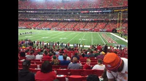 Georgia Dome, secção: 112, fila: 22, lugar: 8