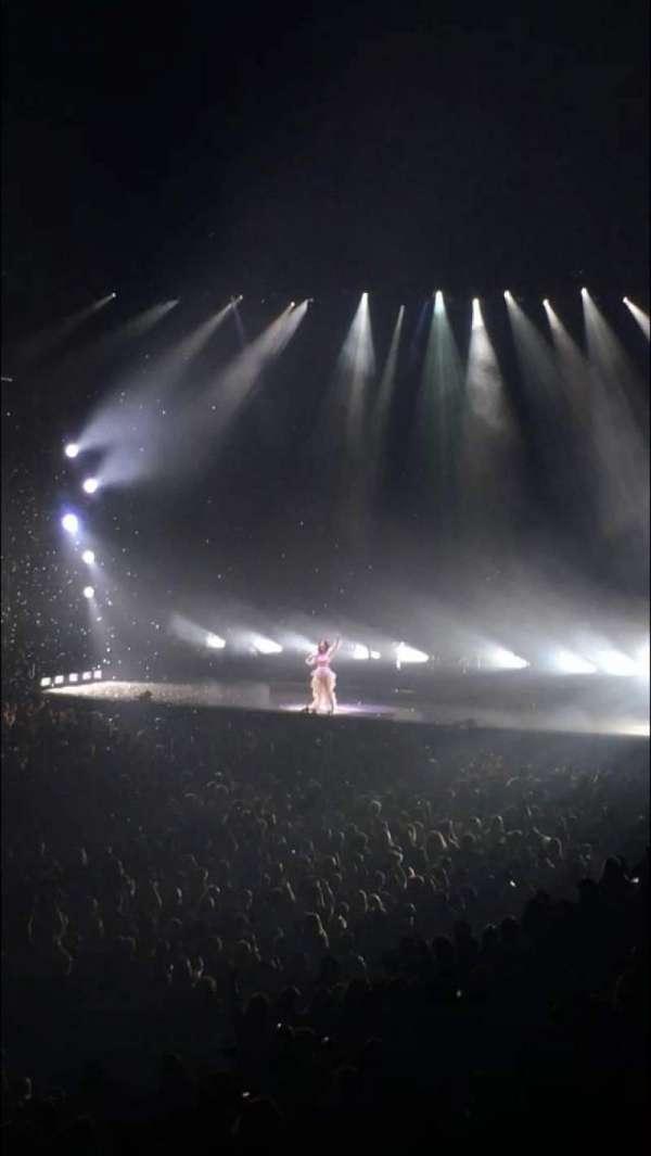 Oracle Arena, secção: 105, fila: 20