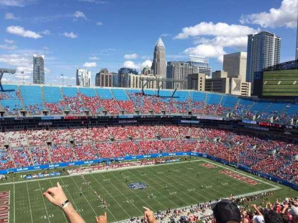 Bank of America Stadium, secção: 545, fila: 23, lugar: 19