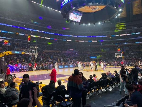 Staples Center, secção: 113, fila: 2, lugar: 5