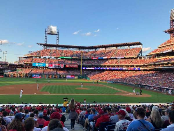 Citizens Bank Park, secção: 131, fila: 26, lugar: 1