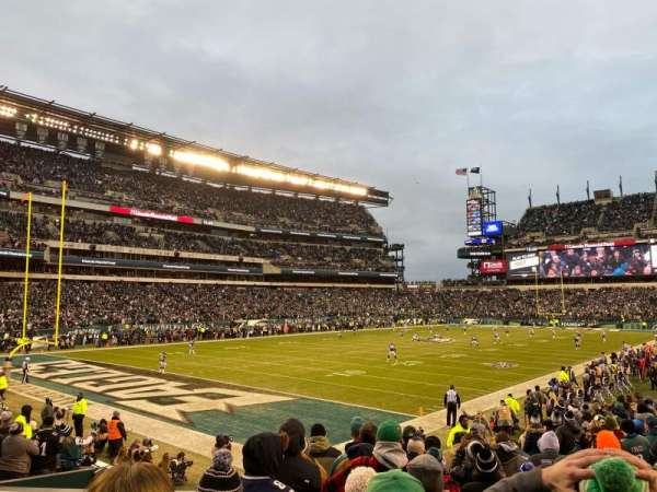 Lincoln Financial Field, secção: 114, fila: 15, lugar: 10