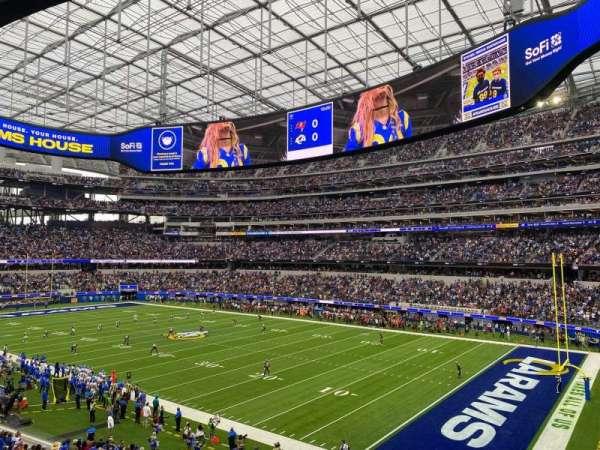 SoFi Stadium, secção: 201, fila: 2, lugar: 6