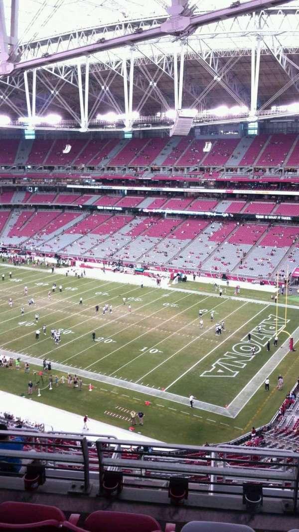 State Farm Stadium, secção: 436, fila: 4, lugar: 11