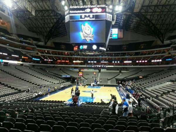 American Airlines Center, secção: 124, fila: M, lugar: 11