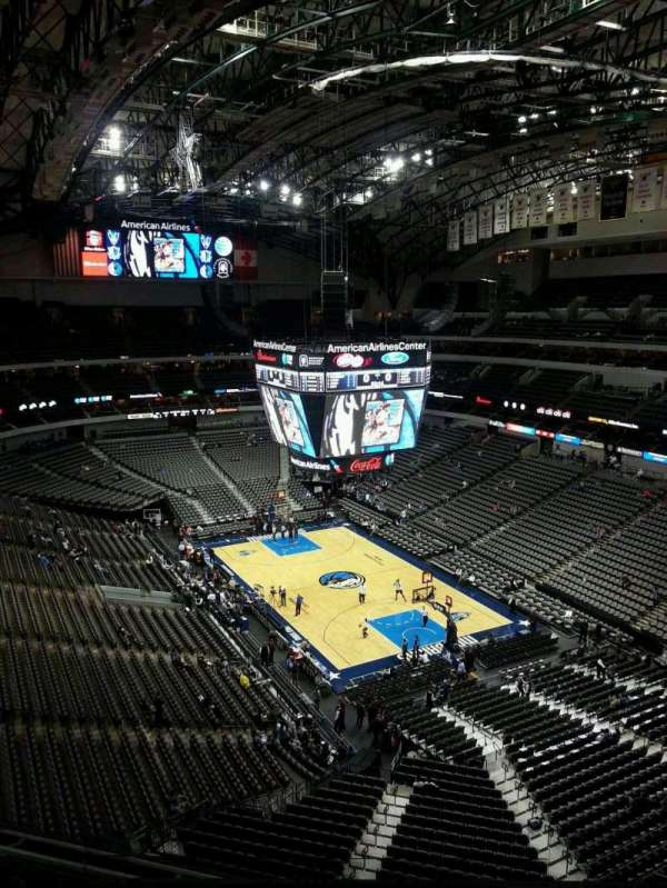 American Airlines Center, secção: 321, fila: H, lugar: 4
