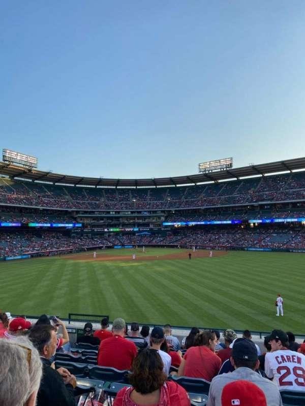 Angel Stadium, secção: 240, fila: K, lugar: 5