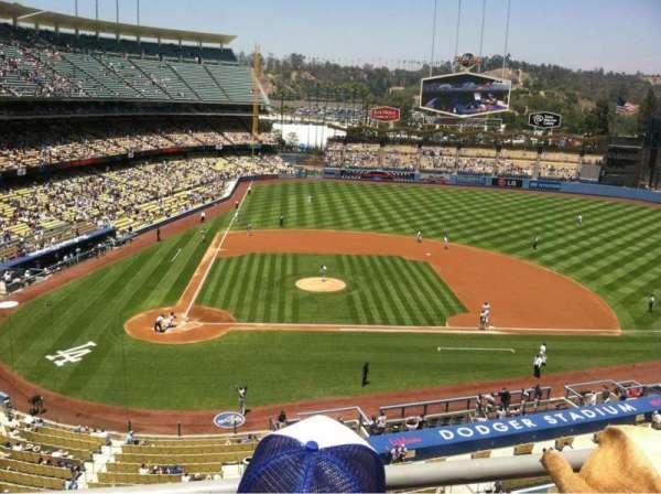 Dodger Stadium, secção: 10RS, fila: B, lugar: 4