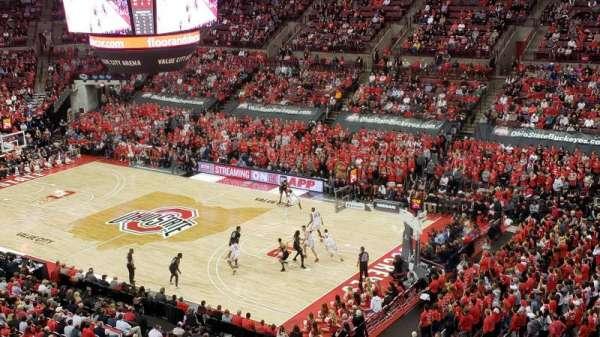 Value City Arena, secção: 319, fila: A, lugar: 6