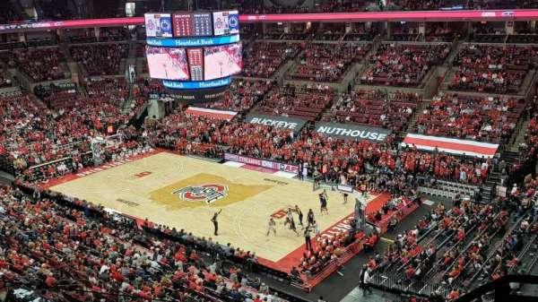 Value City Arena, secção: 319, fila: E, lugar: 1