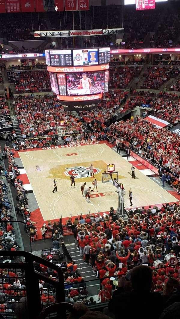 Value City Arena, secção: 315, fila: E, lugar: 9
