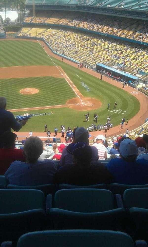 Dodger Stadium, secção: 11rs, fila: s, lugar: 22