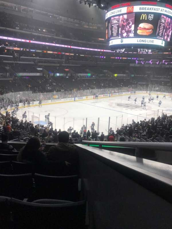 Staples Center, secção: 205, fila: 7, lugar: 1