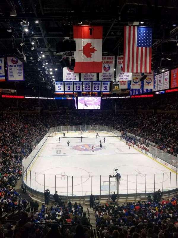 Nassau Veterans Memorial Coliseum, secção: 234, fila: 1, lugar: 1