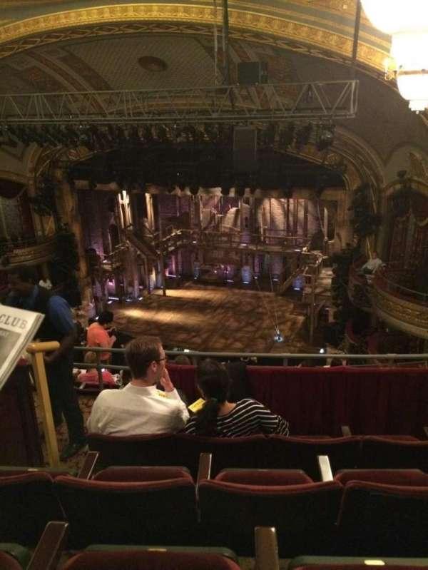 Richard Rodgers Theatre, secção: Rear Mezzanine L, fila: D, lugar: 18