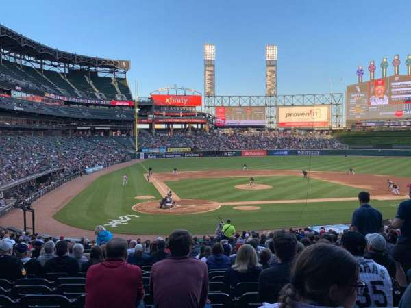 Guaranteed Rate Field, secção: 129, fila: 30, lugar: 6