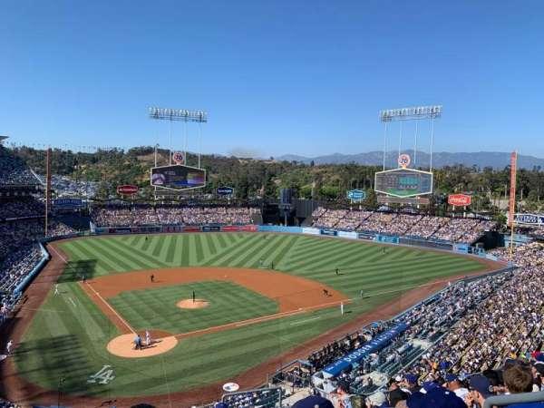 Dodger Stadium, secção: 4RS, fila: J, lugar: 21