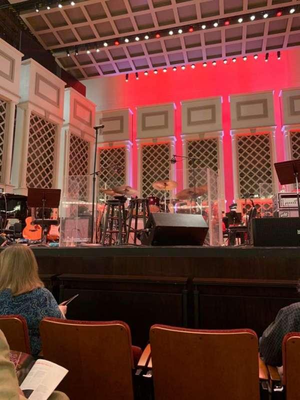 Cincinnati Music Hall, secção: ORCH, fila: CC, lugar: 201