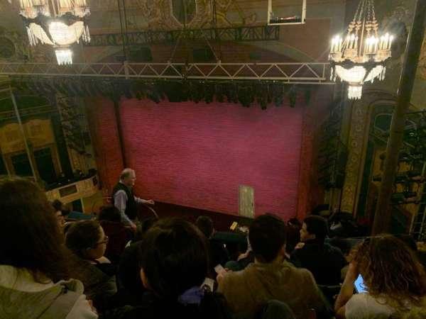 Shubert Theatre, secção: Balcony R, fila: F, lugar: 12