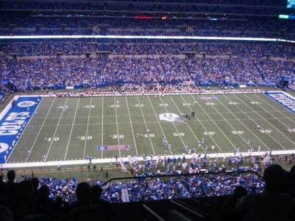 Lucas Oil Stadium, secção: 642, fila: 9, lugar: 1