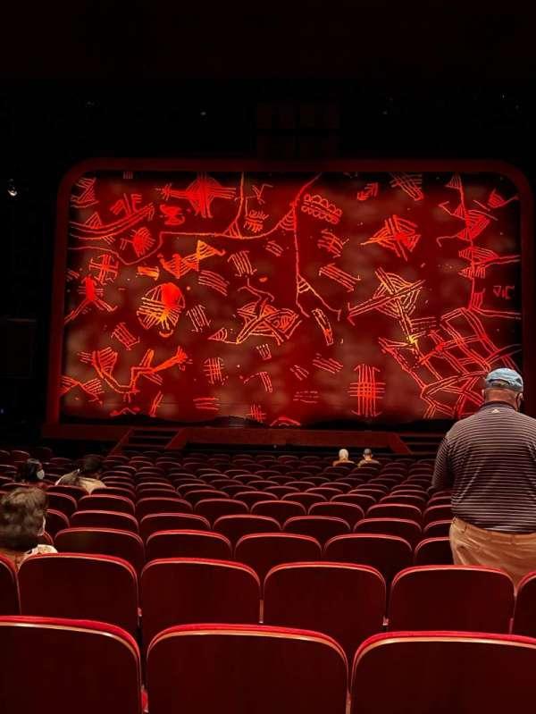 Minskoff Theatre, secção: Orchestra C, fila: P, lugar: 115