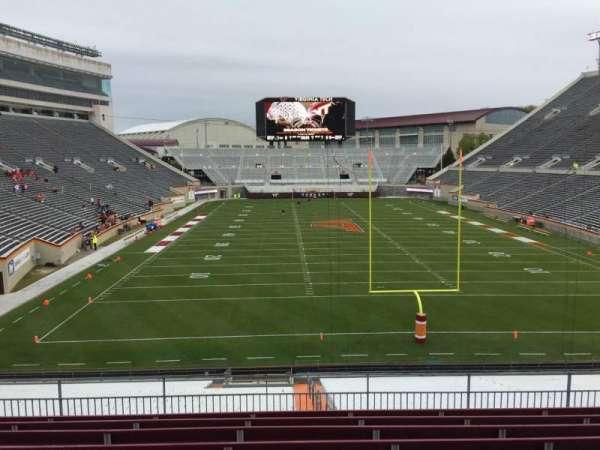 Lane Stadium, secção: 204, fila: J, lugar: 15