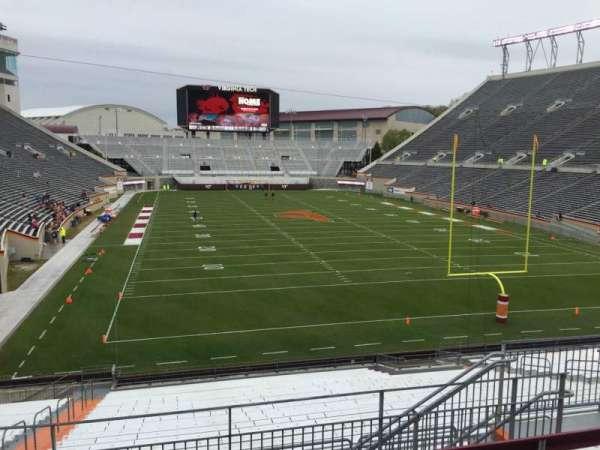 Lane Stadium, secção: 205, fila: F, lugar: 9