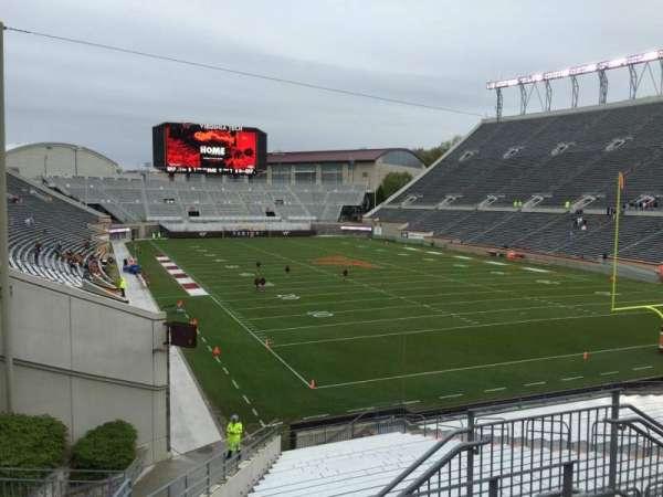 Lane Stadium, secção: 206, fila: D, lugar: 6