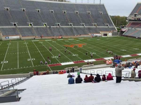 Lane Stadium, secção: 6, fila: XX, lugar: 16