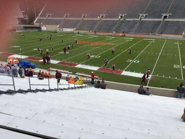 Lane Stadium, secção: 14, fila: CC, lugar: 24