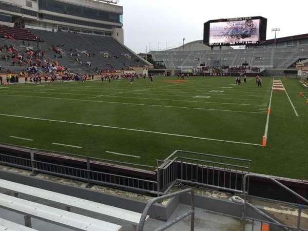 Lane Stadium, secção: 101, fila: F, lugar: 13