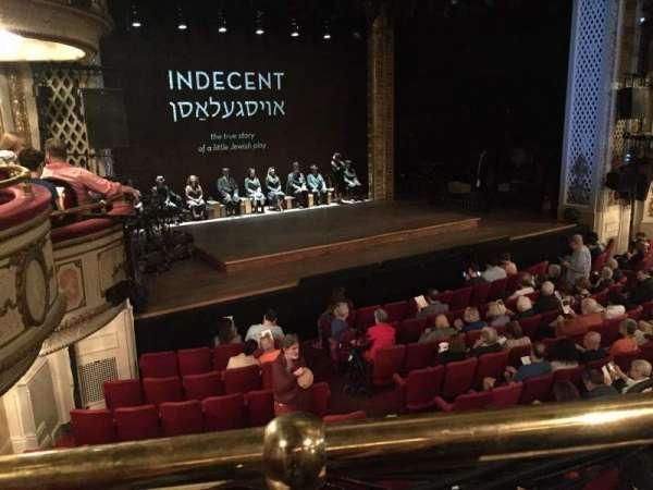 Cort Theatre, secção: Mezzanine L, fila: A, lugar: 15