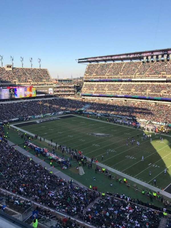 Lincoln Financial Field, secção: 206, fila: 1, lugar: 15