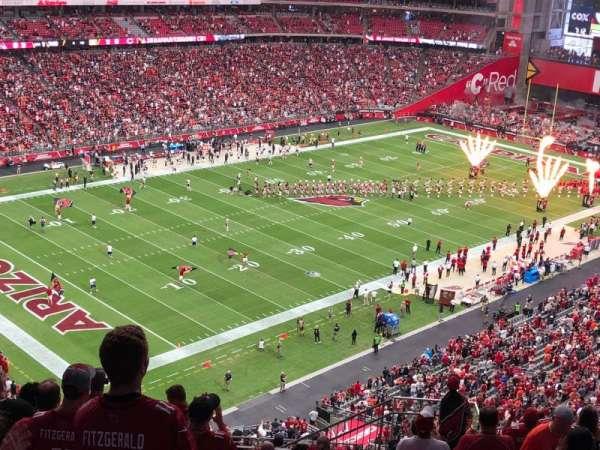 State Farm Stadium, secção: 421, fila: 13, lugar: 8