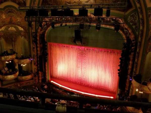 New Amsterdam Theatre, secção: Balcony R, fila: B, lugar: 10