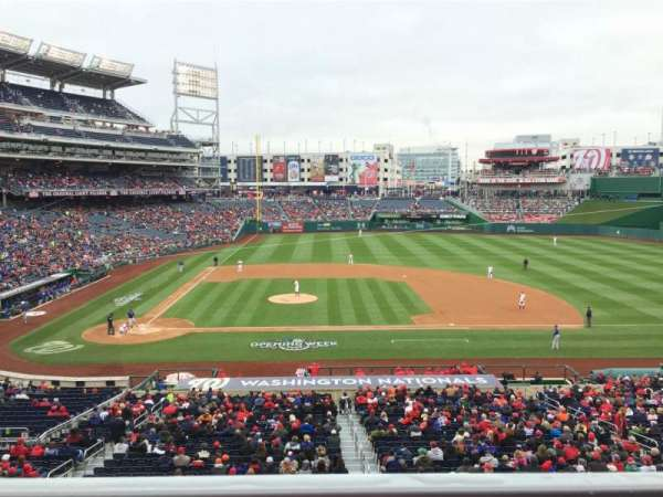 Nationals Park, secção: 218, fila: A, lugar: 5