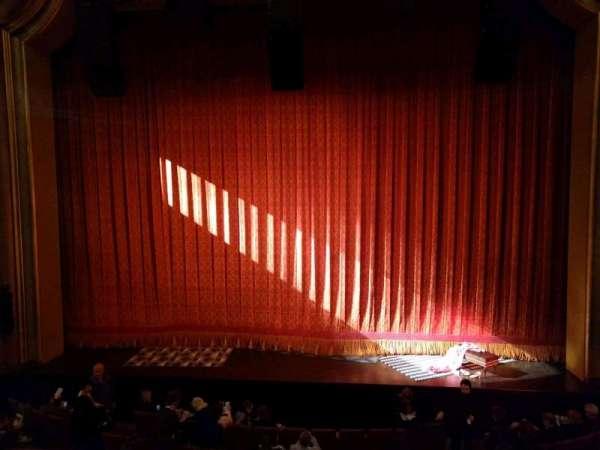 St. James Theatre, secção: Mezzanine C, fila: A, lugar: 105
