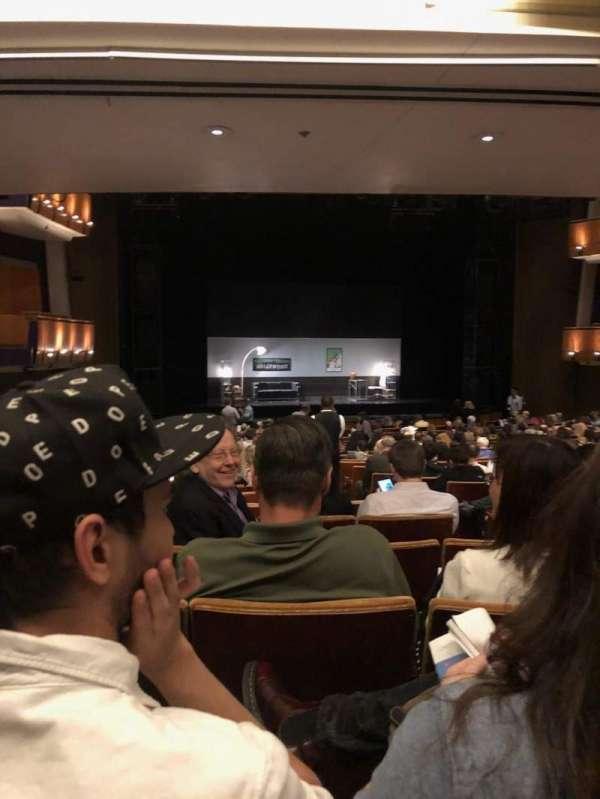 Ahmanson Theatre, secção: Orch, fila: X, lugar: 43