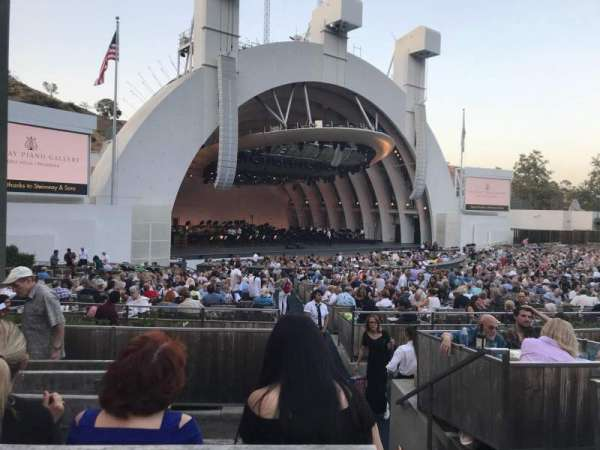 Hollywood Bowl, secção: E, fila: 5, lugar: 1