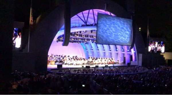 Hollywood Bowl, secção: E, fila: 11, lugar: 7