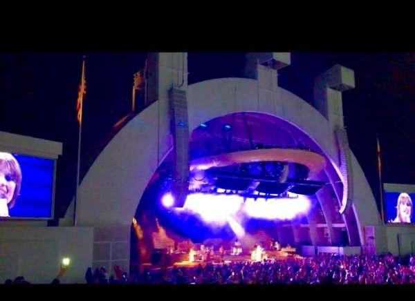 Hollywood Bowl, secção: E, fila: 1, lugar: 11