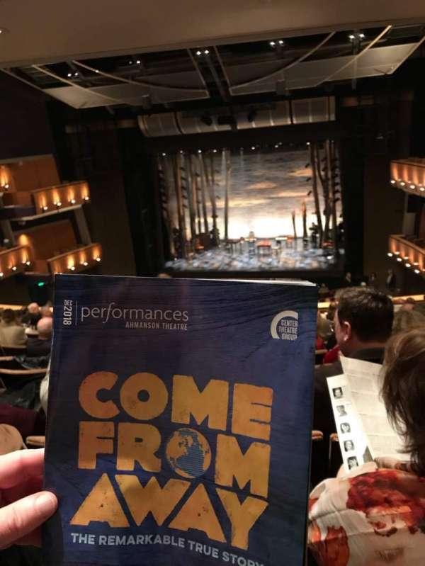 Ahmanson Theatre, secção: Mezz, fila: L, lugar: 13