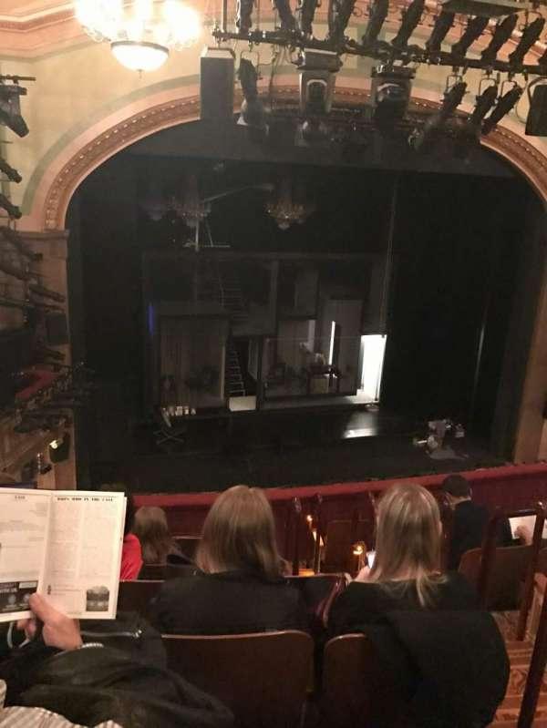 Booth Theatre, secção: Mezzanine L, fila: G, lugar: 5