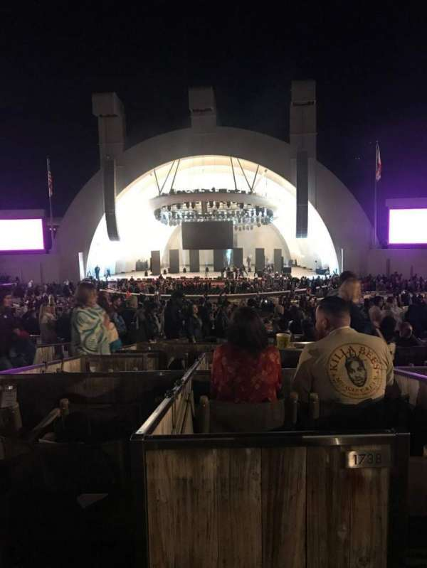 Hollywood Bowl, secção: Terrace 3, fila: 1838, lugar: 1-2